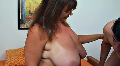 Grandma, Saggy, Saggy tits, Big saggy tits, Bbw hairy