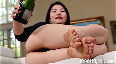 Feet, Asian foot, Asian feet, Asian foot fetish, Park, Champagne