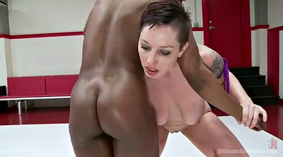Mistress, Fight, Catfight, White and black, Black cat, White milf