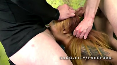 Woman, Asian throat fuck