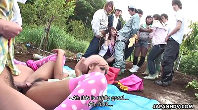 Hairy creampie, In front of, Asian pee, Outdoor pee, Japanese riding, Field
