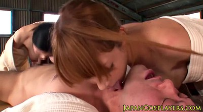 Art, Babe, Asian blonde, Japanese threesome, Coach, X art