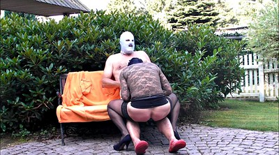Gay spanking, Crossdresser, Outdoor, Hard spanking, Spanked hard, Gay spank