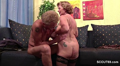First time, Couple, Mature casting, Granny porn, German granny, German porn