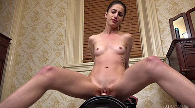 Sybian, Insertion, Skinny small tits, Ride toy