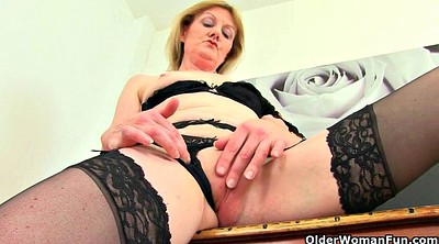 Trick, Grannies, British mature, Teach, Granny masturbation