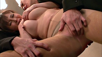 Gangbang, Japanese milf, Three