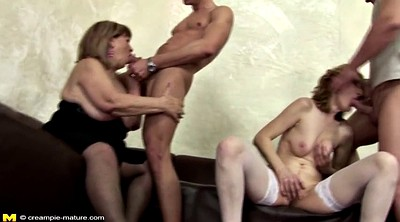 Granny creampie, Young creampie, Old creampie