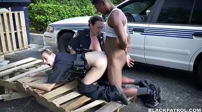 Outdoor, Interracial threesome