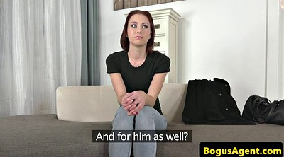 Audition, Auditions, Office amateur, Casting redhead, At office