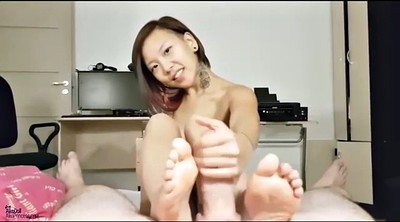 Feet, Handjobs, Asian footjob