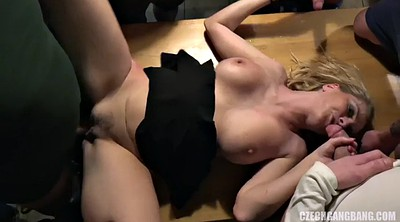 Czech, Czech group, Czech gangbang, Czech milf