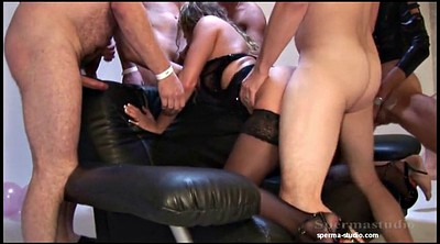 Extreme, Extremely, Natalie, German gangbang creampie, German gangbang, Group creampie