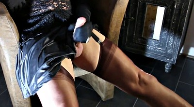 Nylon feet, Nylon heels, Handjob stocking