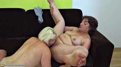Lesbian mom, Old mom, Granny lesbian, Young old, Mom threesome, Mom n