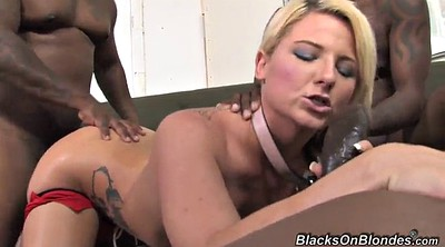 Deep throat, Swallow, Blonde gangbang
