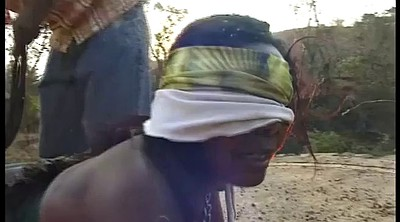 Blindfolded, Leashed, Big black ass