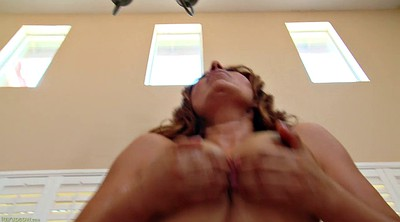 Orgasm, Solo mom, Masturbate, Busty mom