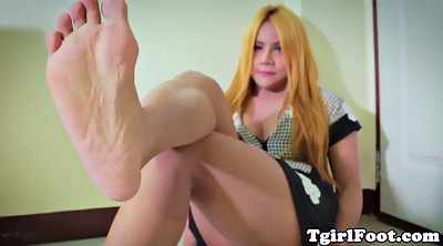 Ladyboy, Feet solo, Foot solo, Beautiful feet, Shemale foot, Shemale solo