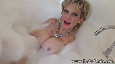 Shower, Sonia, Cum on tits, Take a shower
