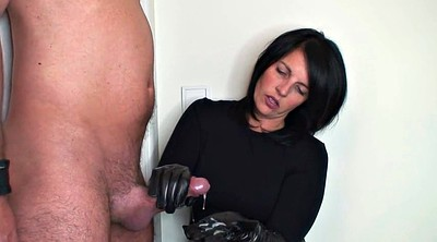 Leather, Gloves, Gloves handjob