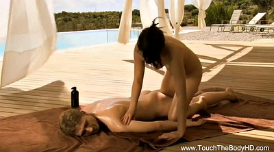 Asian massage, Asian man, Massage oil, Oiling
