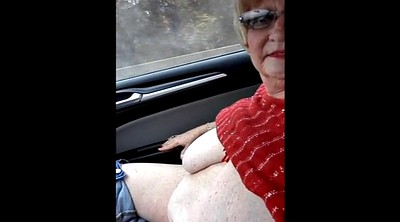 Bbw granny, Road, Granny flash