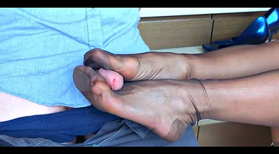 Footjob, Foot, Stockings foot, Stockings feet, Nylon footjob