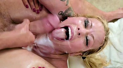 Bukkake, Alexis fawx, Cum in throat, Oral, Wash, Alexis