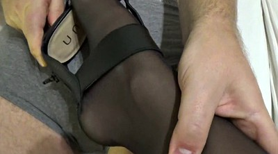 Black foot, Stocking, Black footjob, Black feet