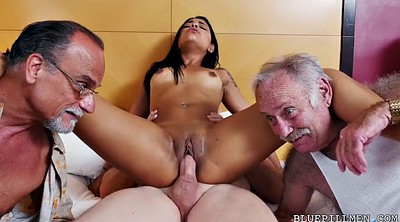 Foursome, Farting, Three, Tattoo, Pickup, Dirty old