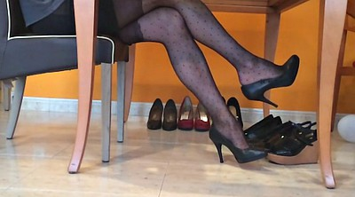 Pantyhose foot, Nylon foot, Black foot, Ebony pantyhose