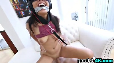 Bondage handjob, Punished, Tied tits