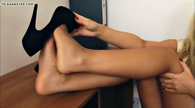Nylon feet, Nylon foot, Foot feet