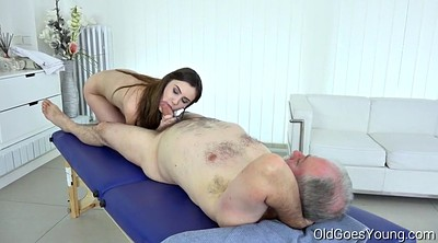 Old man, Hair, Massage mature, Man, Hair pulling