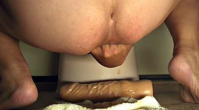 Gape, Huge dildo, Huge toy, Dildo riding