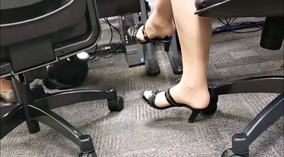 Nylon, Boss, Leg, Candid, Foot fetish