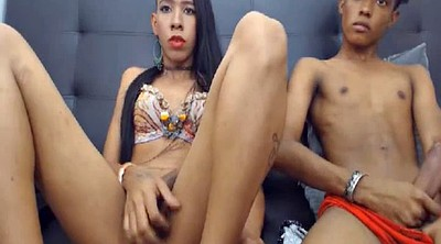 Shemale webcam, Shemale and couple