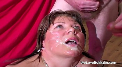 British mature, British wife, Mature amateur, British bukkake