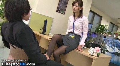 Japanese footjob, Japanese massage, Pantyhose footjob, Nylon, Pantyhose foot, Japanese office