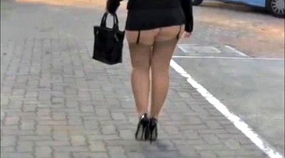 Walk, Mature upskirt, Mature public