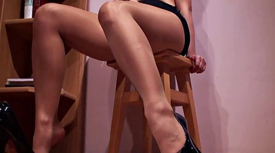 Shiny pantyhose, Pantyhose foot