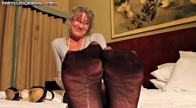 Grandma, Mature foot, Mature hair, Mature feet, Milf footjob, Grey hair