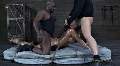 Tied and fucked, Black cock, Tied up