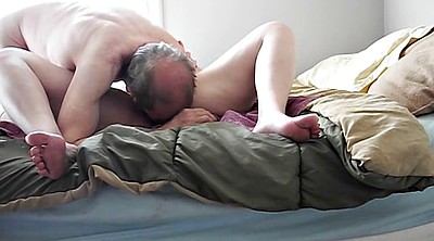 Old and young, Tongue, Old orgasm