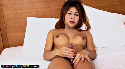 Asian ladyboy, Asian shemale, Ladyboy solo, Stripped, Slide, Shemale dildo