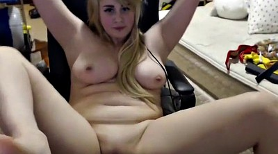 Webcam, Toy, Blond, Chubby webcam, Chubby dildo