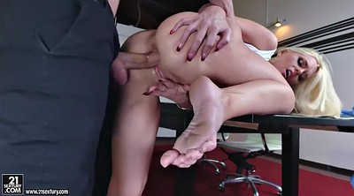 Upskirt, Office foot, Feet anal