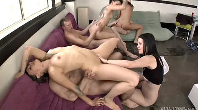 Group sex, Cowgirl riding