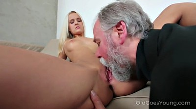 Oldman, Maid, Young blonde, Desire